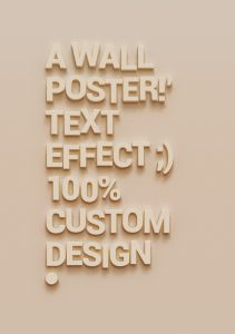 Wall-Poster-Text-Effect