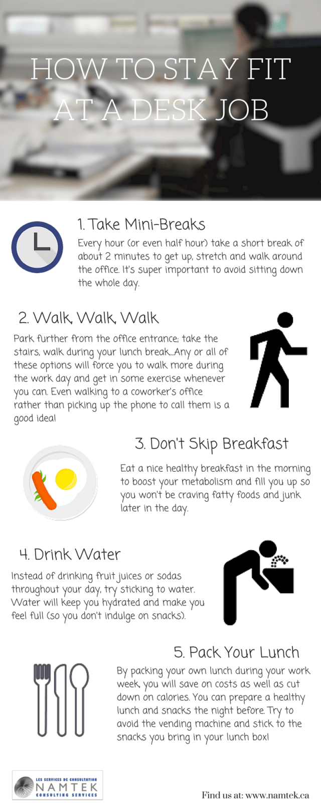 How To Stay Fit At A Desk Job